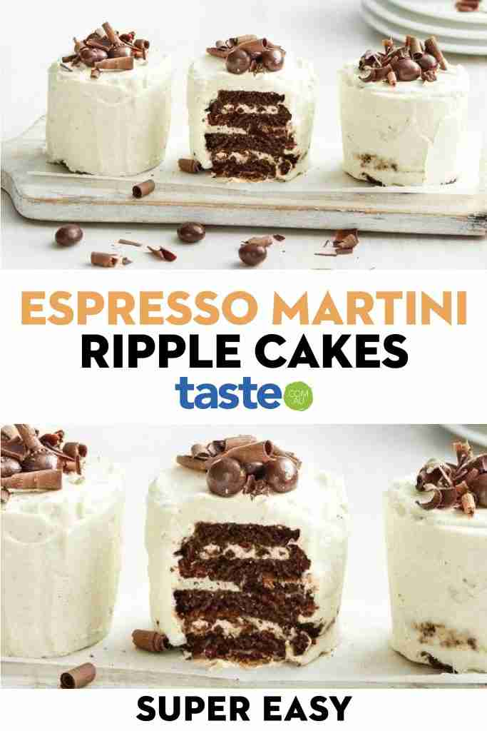 Espresso martini ripple cakes