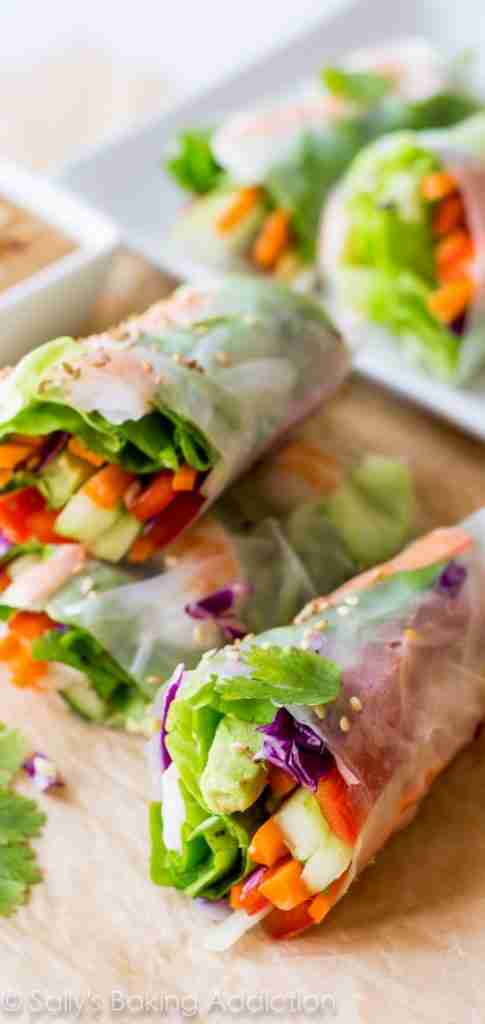 Fresh Summer Rolls with Peanut Dipping Sauce | Sally's Baking Addiction