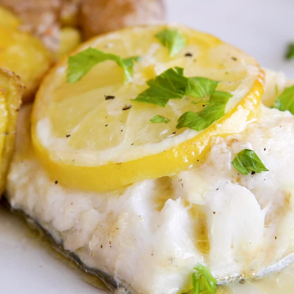Garlic Butter Lemon Baked Cod