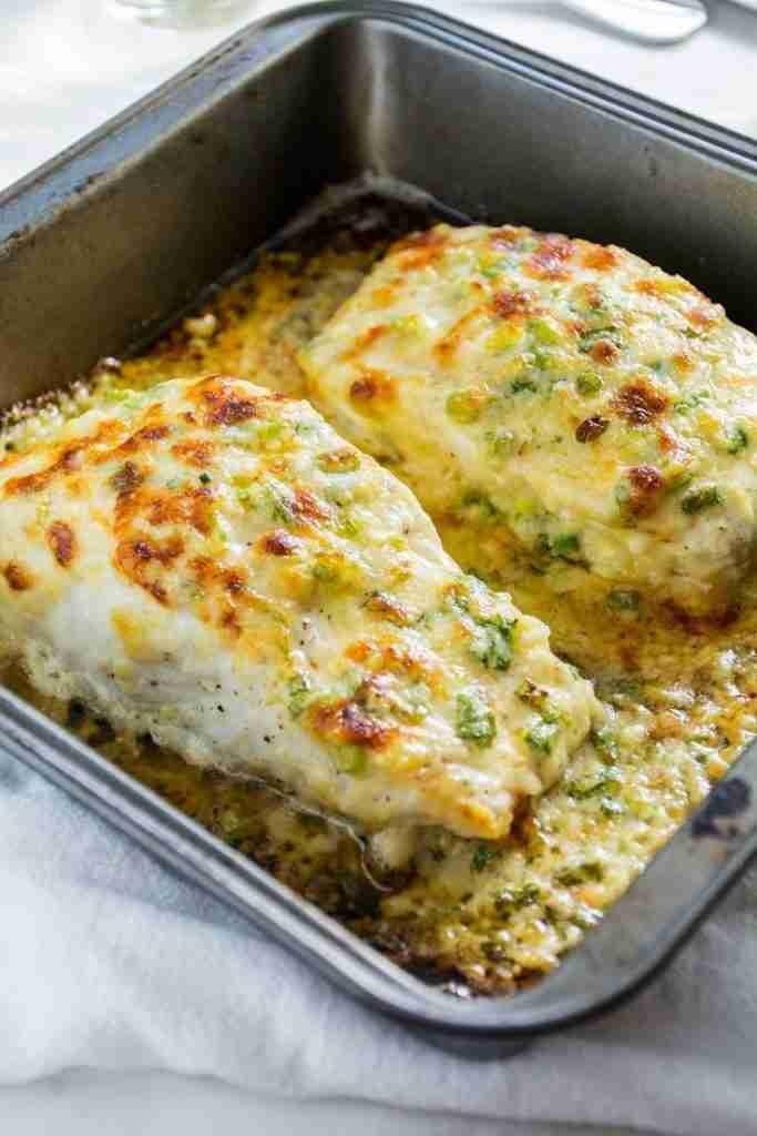 Garlic Parmesan Baked Halibut