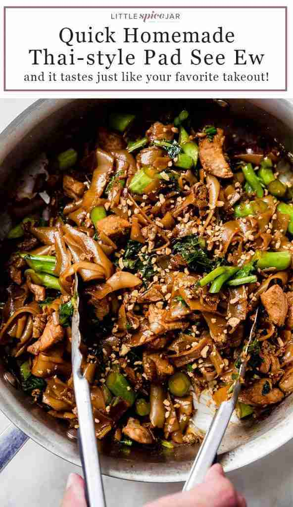 Garlicky Pad See Ew (Thai Rice Noodle Stir Fry)