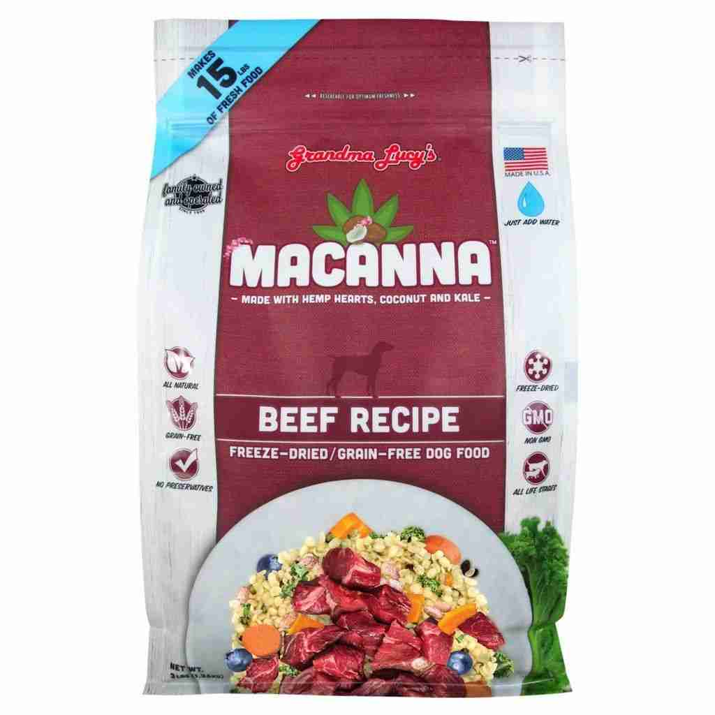Grandma Lucy's Macanna Freeze Dried Beef Dog Food – Beef / 8 lbs