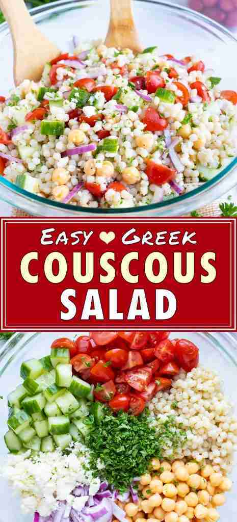 Greek Couscous Salad  Easy + Healthy