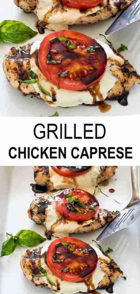 Grilled Chicken Caprese – Chef Savvy