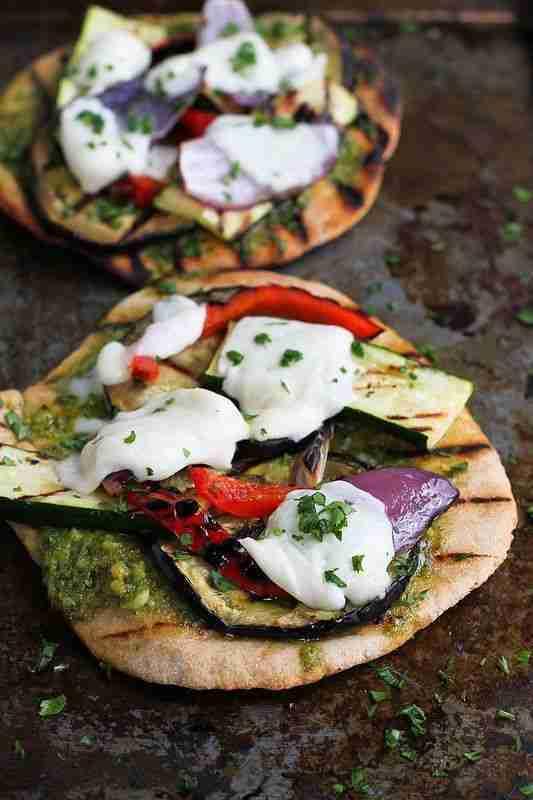 Grilled Pesto Vegetable Pizza Recipe