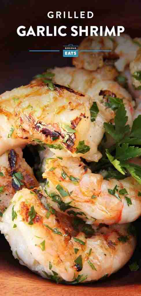 Grilled Shrimp Skewers with Garlic and Lemon Recipe