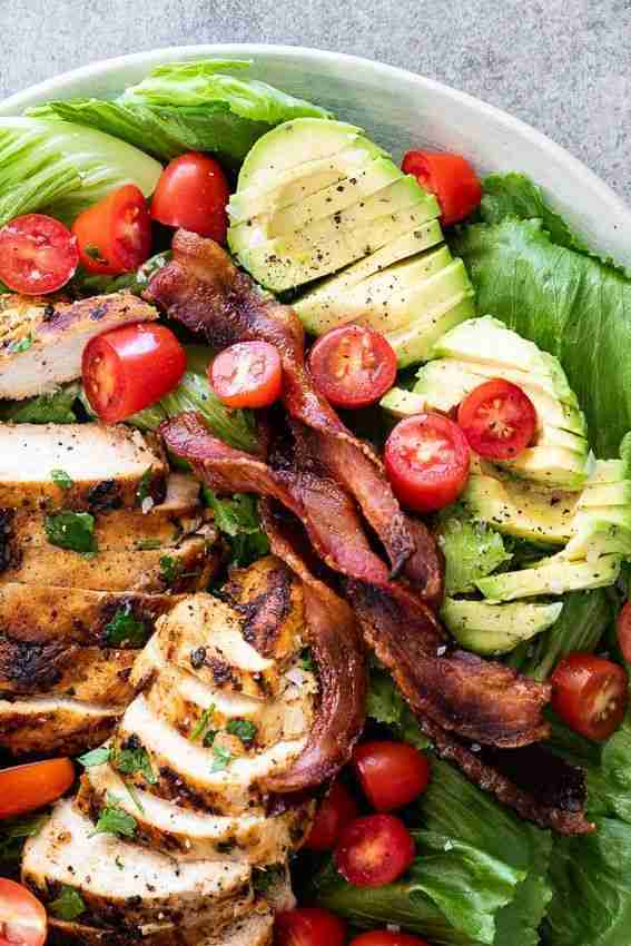 Grilled chicken BLT salad – Simply Delicious