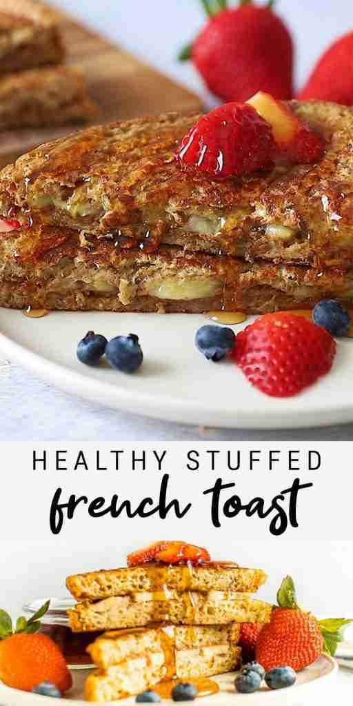 Healthy Stuffed French Toast with Almond Butter  Banana | Easy Vegan Breakfast