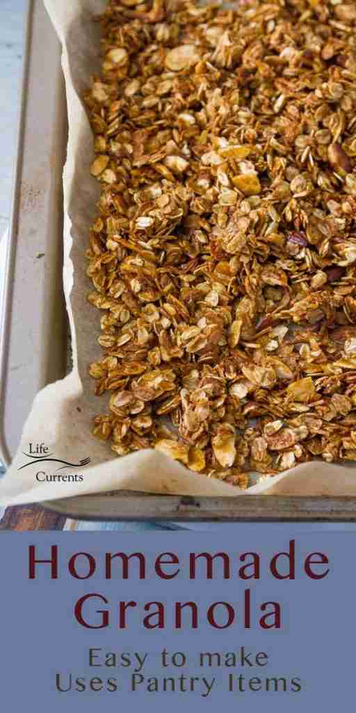 Homemade Granola Recipe – Life Currents Breakfast or Snack