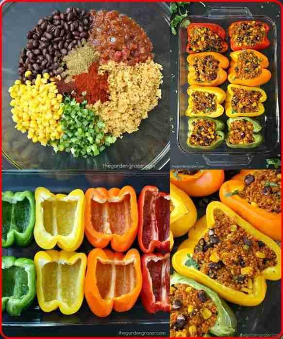 Homemade Mexican Quinoa Stuffed Peppers Recipe