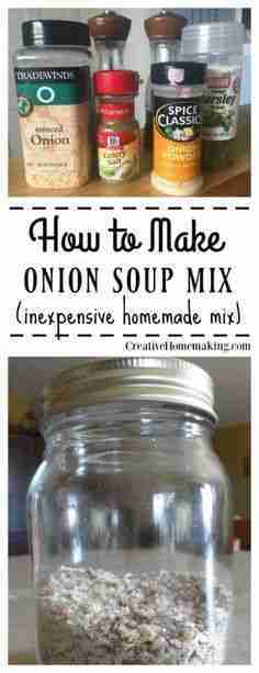 How to Make Onion Soup Mix