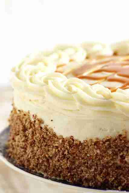 Kentucky Bourbon Butter Cake with Cream Cheese Frosting and Salted Caramel Sauce – The Suburban Soapbox