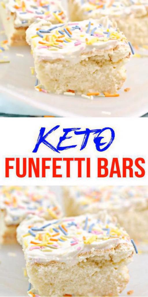 Keto Funfetti Bars – Super Yummy Low Carb Funfetti Bar Recipe – Best Keto Food Recipe For Ketogenic Diet
