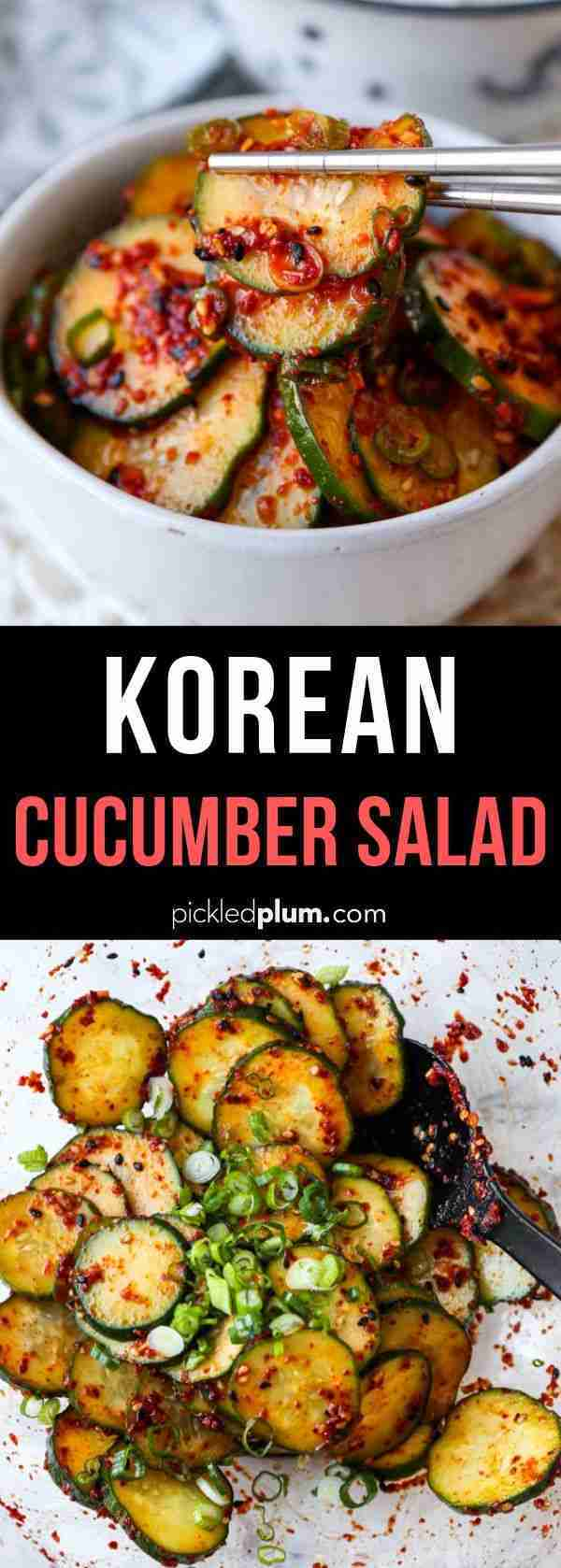 Korean Cucumber Salad | Pickled Plum Food And Drinks