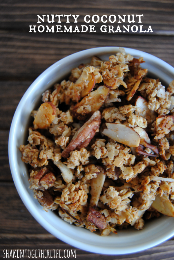 Nutty Coconut Homemade Granola