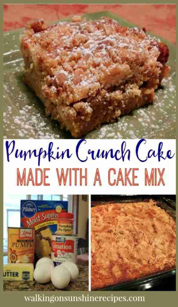 Pumpkin Crunch Cake with VIDEO | Walking On Sunshine Recipes
