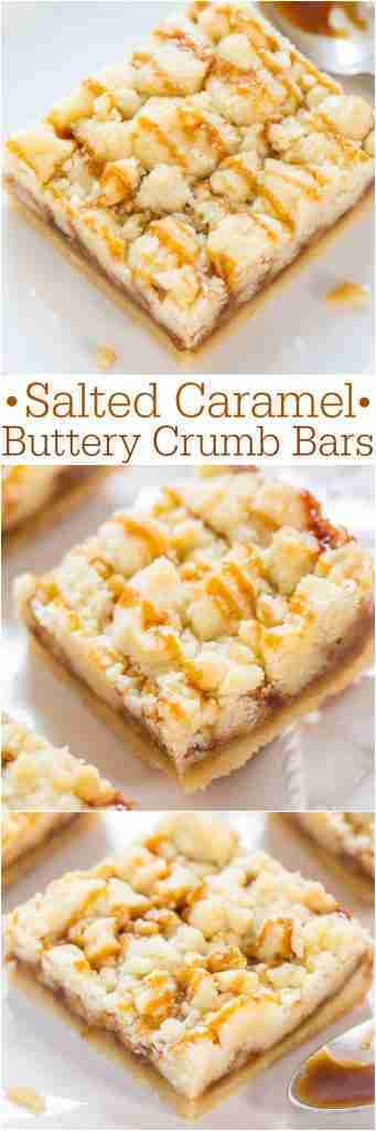 Salted Caramel Bars with Crumb Topping – Averie Cooks
