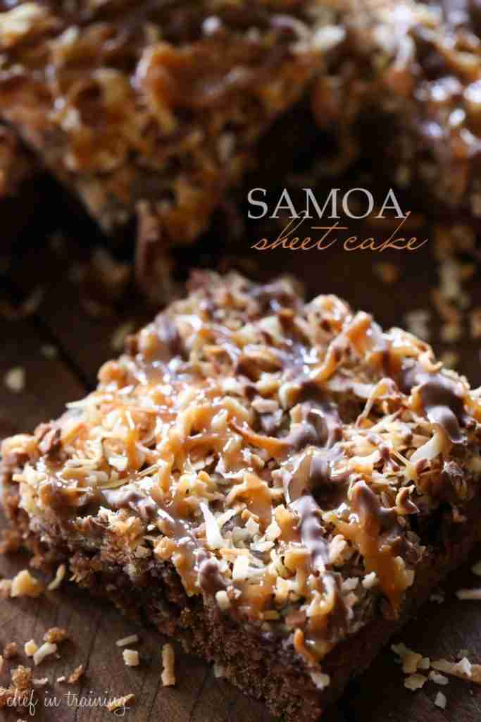 Samoa Sheet Cake – Chef in Training