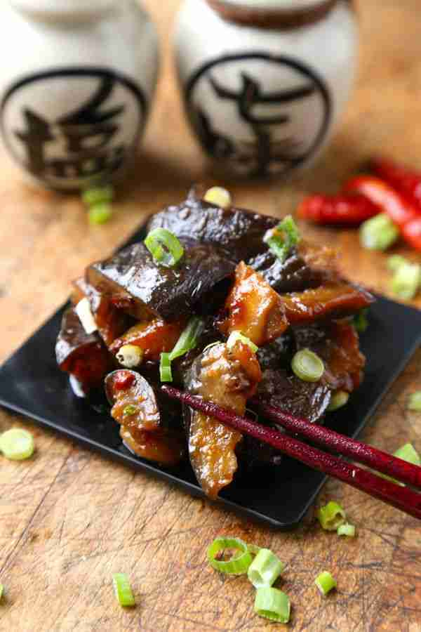 Sauteed Eggplant with Spicy Miso Sauce   Pickled Plum Food And Drinks