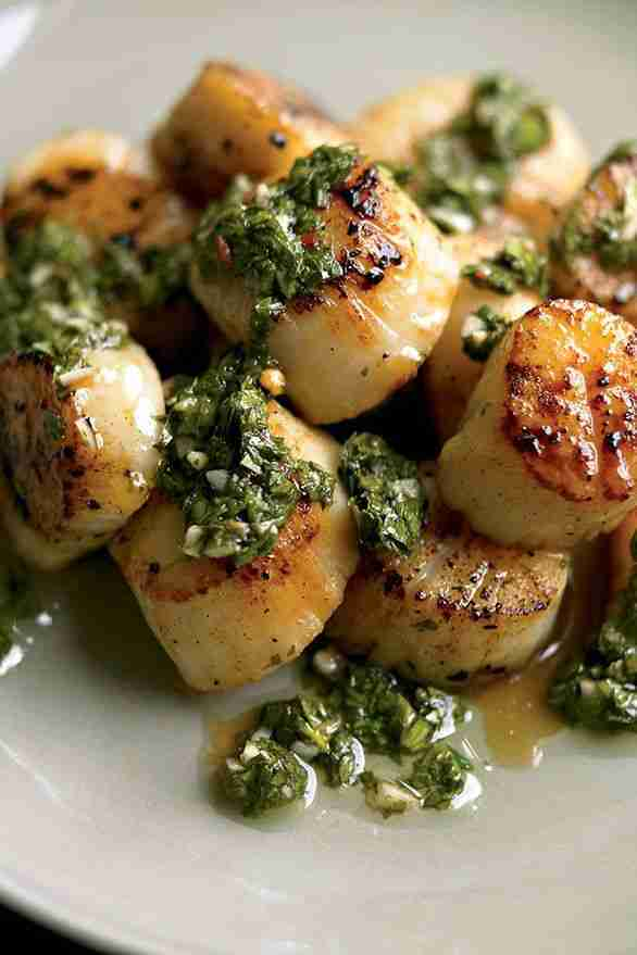 Scallops With Chimichurri Recipe   Eat This Not That