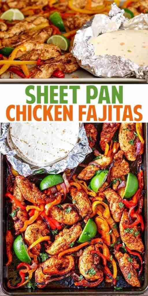 Sheet Pan Chicken Fajitas Recipe