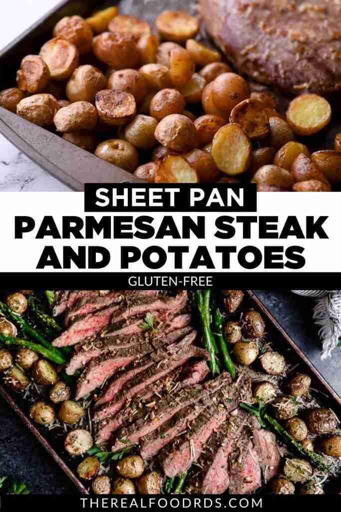 Sheet Pan Parmesan Steak and Potatoes (gluten-free)