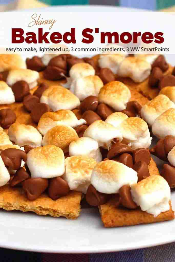 Skinny Baked Smores Recipe | Simple Nourished Living