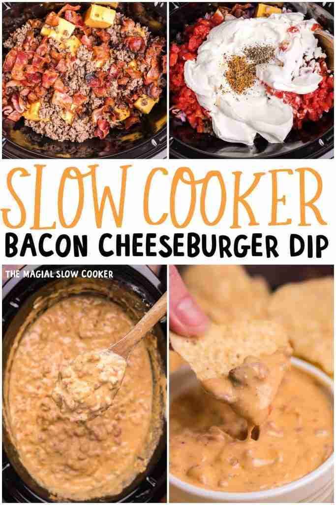 Slow Cooker Bacon Cheeseburger Dip – The Magical Slow Cooker