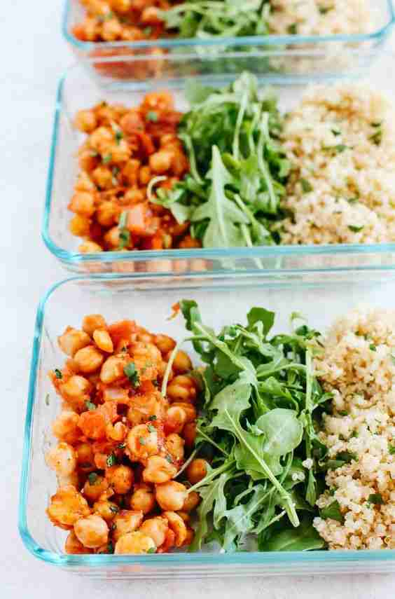 Spicy Chickpea Quinoa Bowls (Meal Prep) – Eat Yourself Skinny