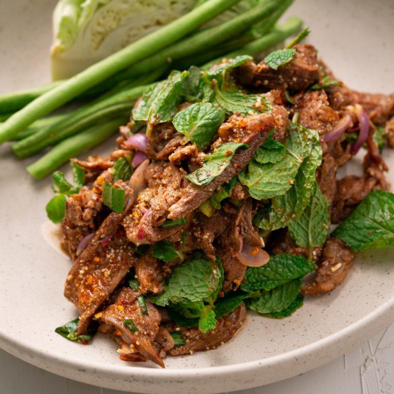 Spicy Thai Grilled Beef Salad (Nam Tok Nuea) – Marion's Kitchen