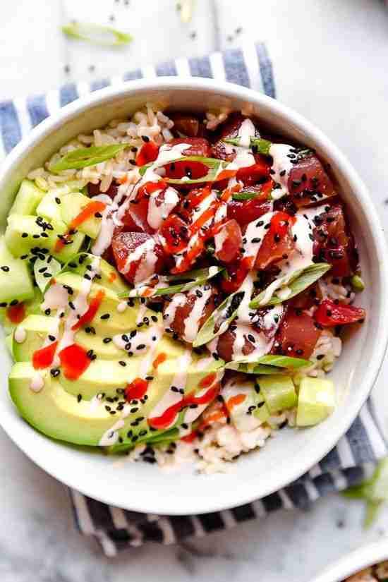 Spicy Tuna Poke Bowls (Obsessed!) – Skinnytaste