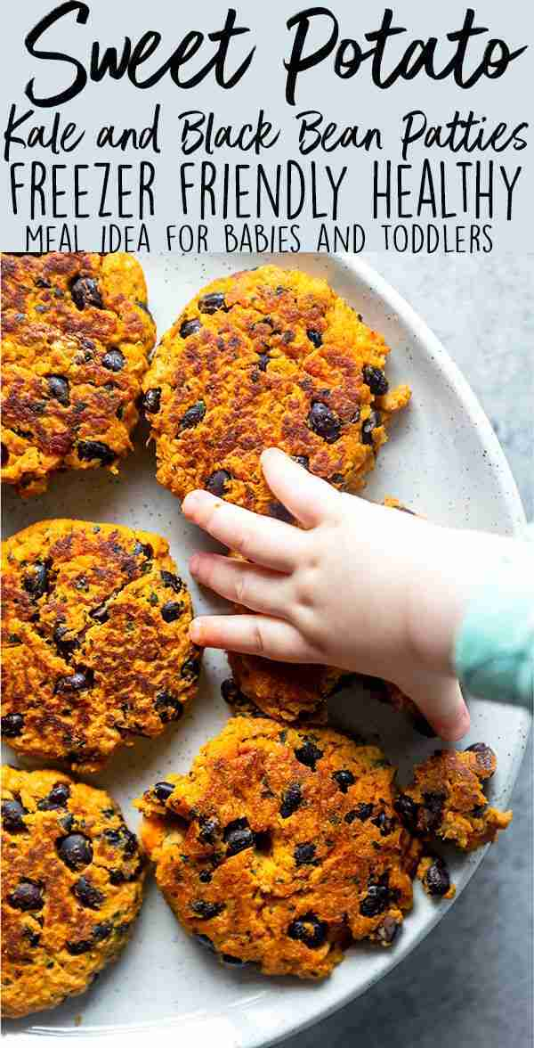 Sweet Potato, Kale and Black Bean Patties for Babies and Toddlers