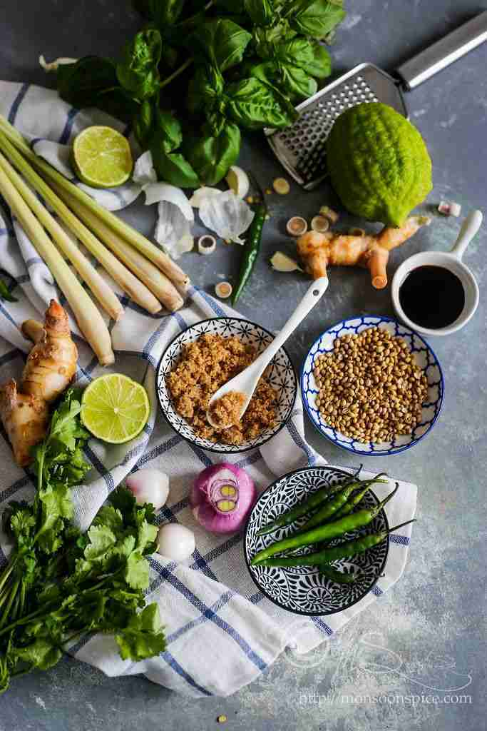 Thai Red, Yellow and Green Curry Paste Recipe   Trio Of Thai Curry Pastes