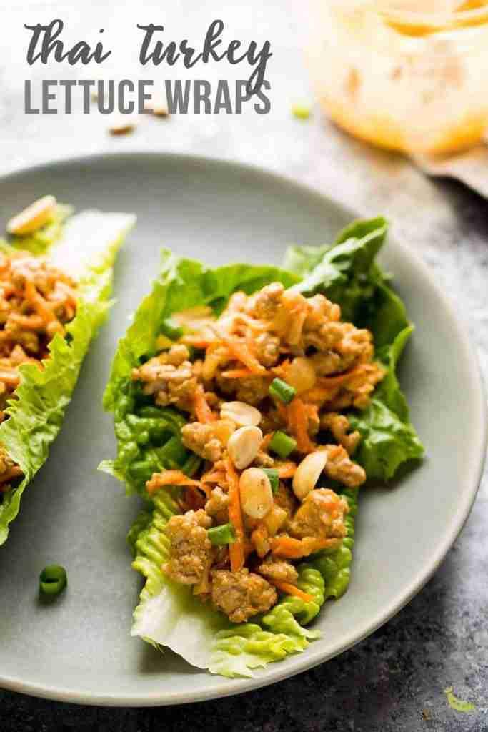 Thai Turkey Lettuce Wraps (+ Video) | Sweet Peas & Saffron