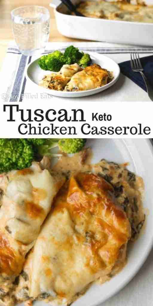 Tuscan Chicken Casserole – Low Carb, Keto, THM S, GF