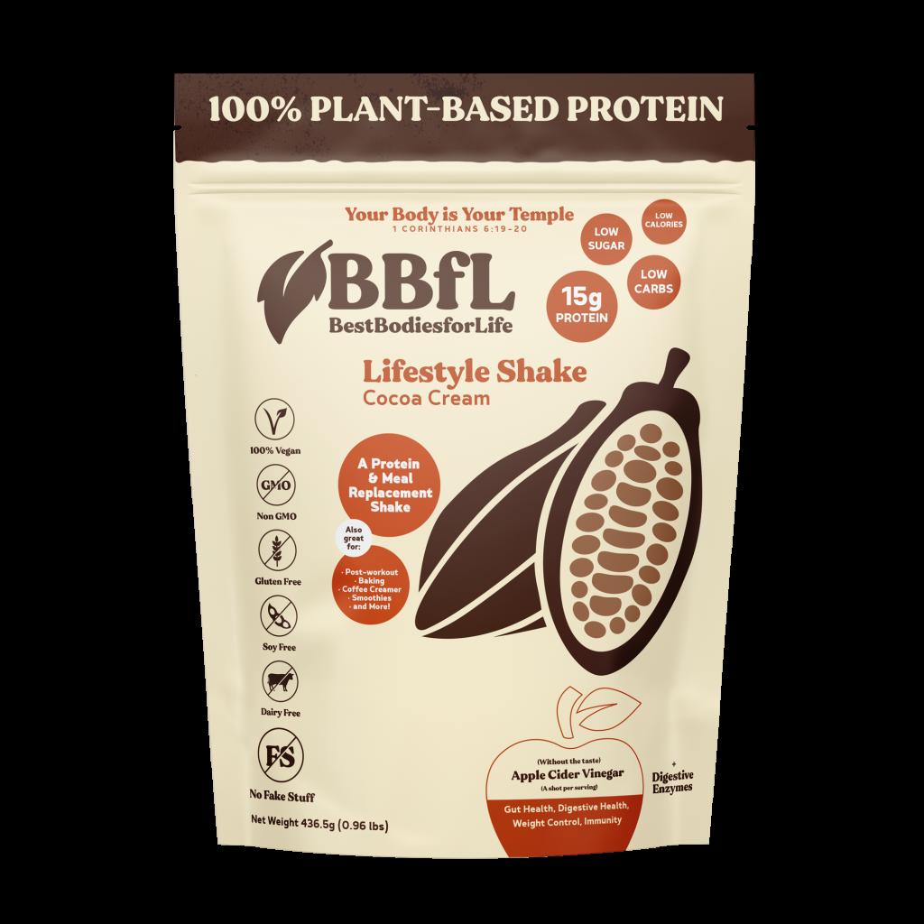 100% Plant Based Cocoa Cream LifeStyle Shake (Tastes like a Chocolate Milkshake)