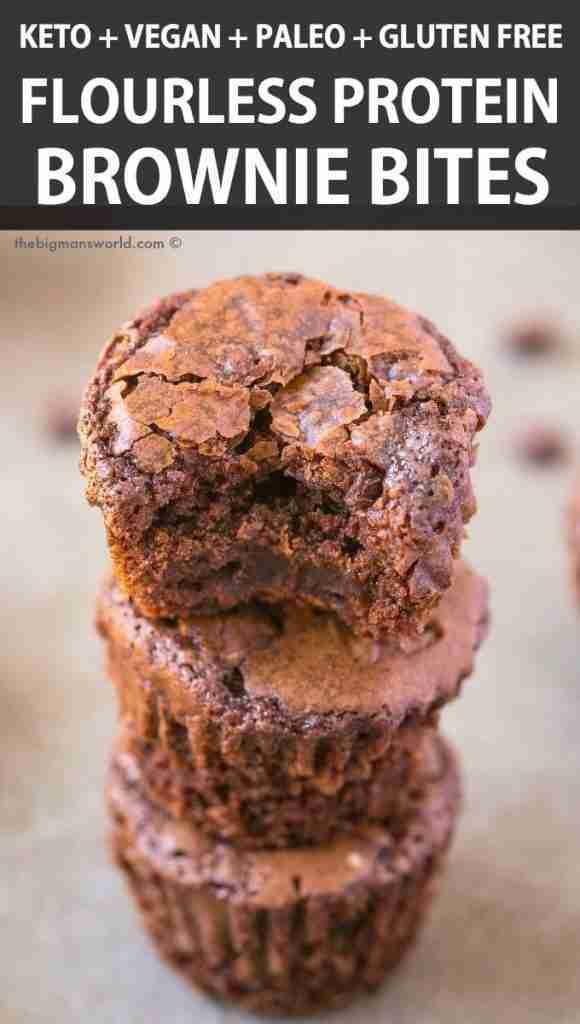 4 Ingredient Flourless Protein Brownie Bites