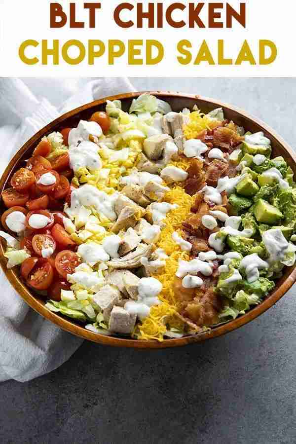 BLT Chicken Chopped Salad – The Salty Marshmallow
