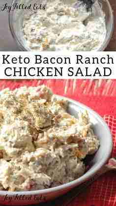 Bacon Ranch Easy Chicken Salad – Low Carb, Keto, THM
