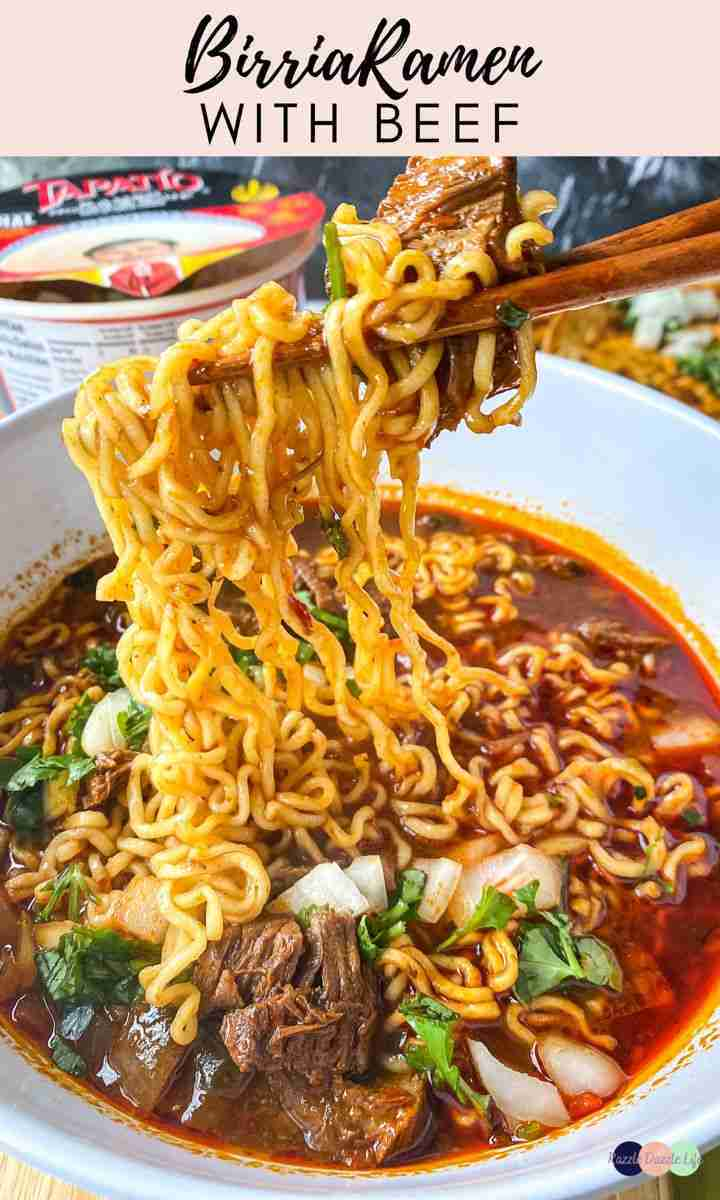 Birria Ramen with Beef: Pressure Cooker Method – Razzle Dazzle Life