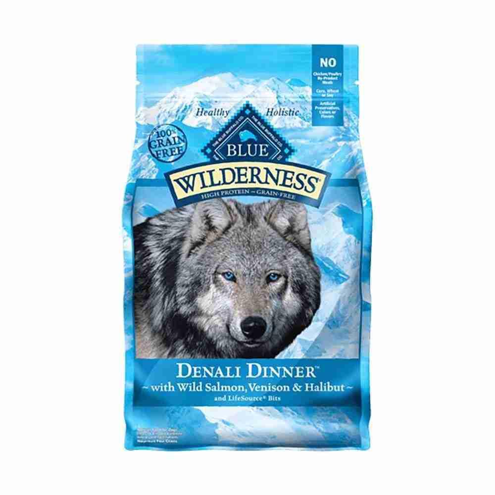Blue Buffalo® Wilderness™ Grain Free Denali Dinner® with Wild Salmon, Venison & Halibut Adult Dog Food 4 Lbs