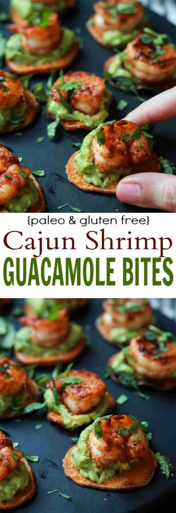 Cajun Shrimp Guacamole Bites   Paleo & Gluten Free Appetizer