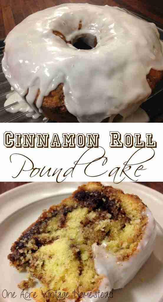 Cinnamon Roll Pound Cake ⋆ Vintage Mountain