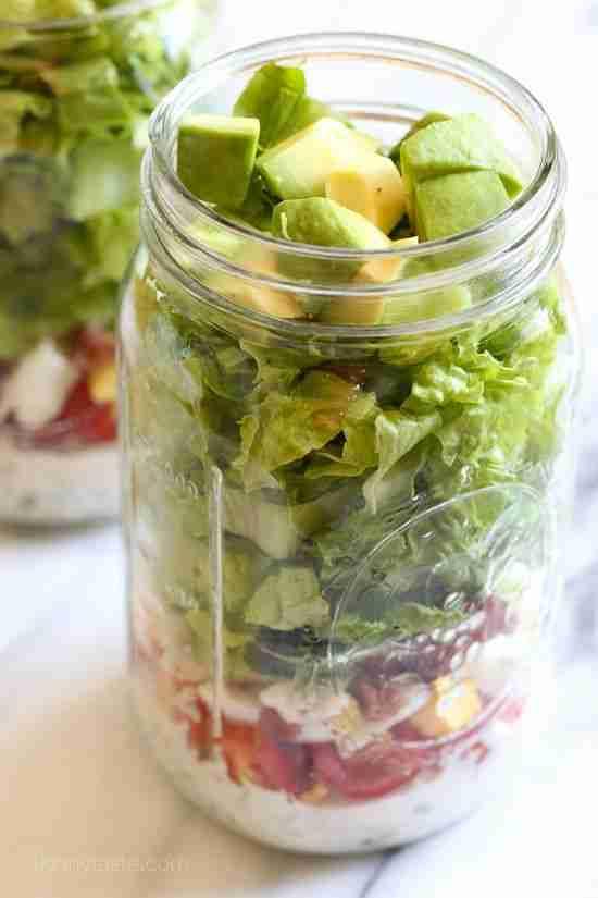 Cobb Salad in a Jar with Buttermilk Ranch