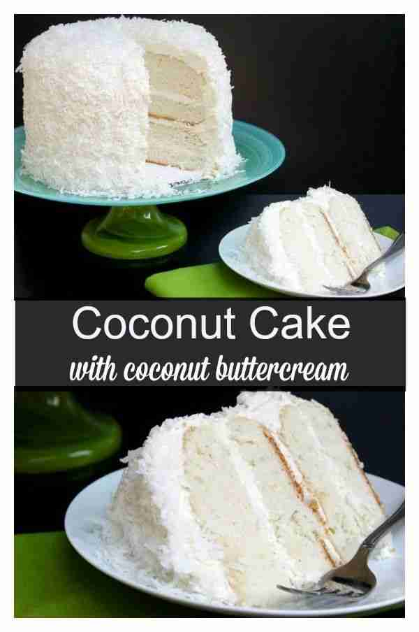 Coconut Cake with Coconut Butter-Cream Frosting