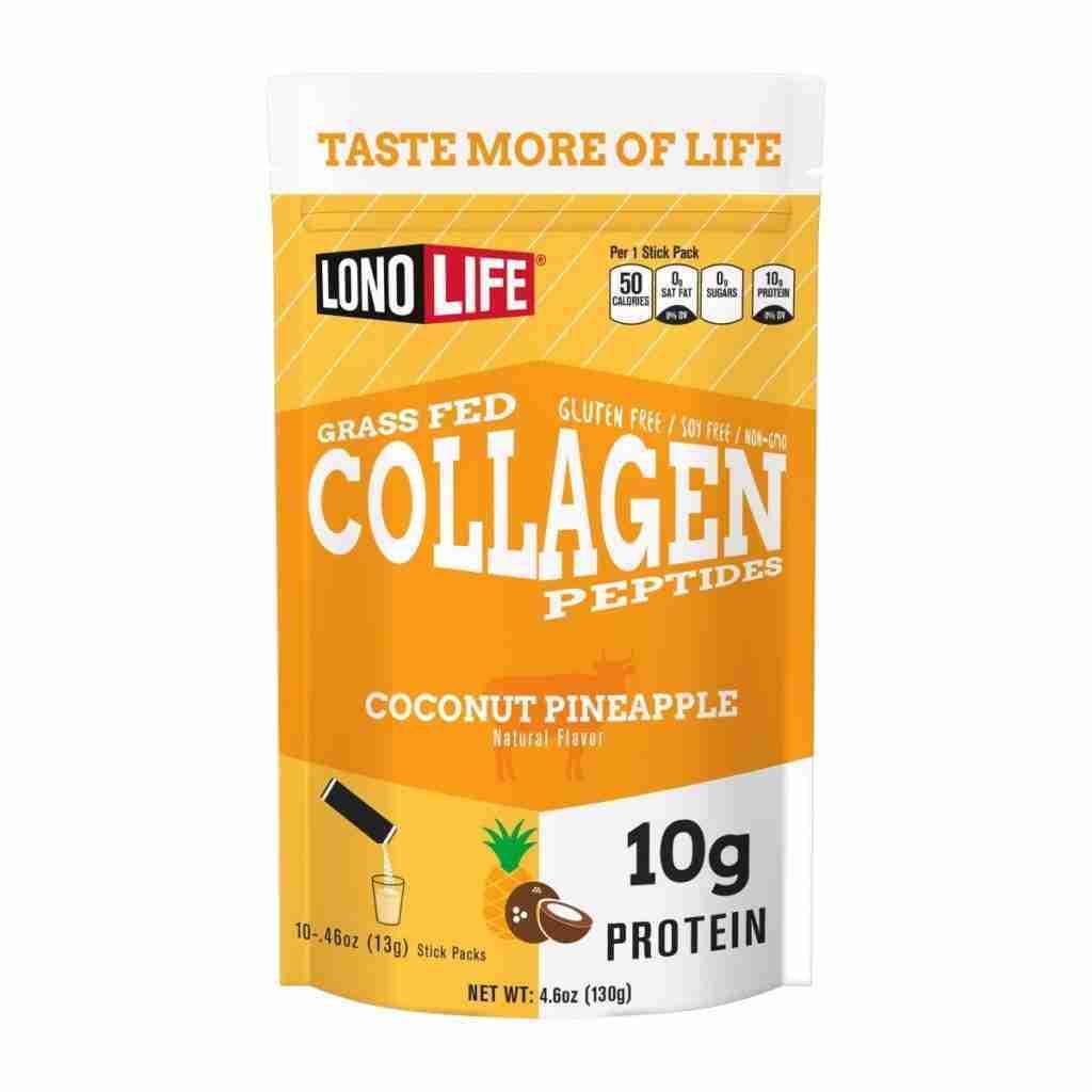 Coconut Pineapple Collagen Peptides Stick Packs – 40 Sticks $1.37/Stick