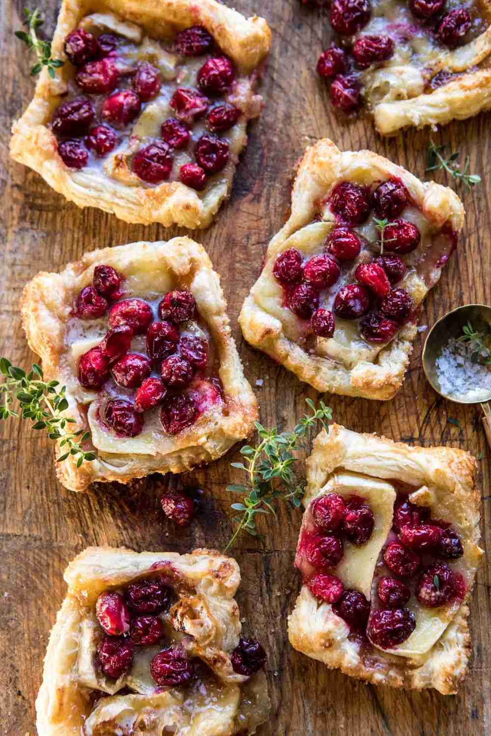 Cranberry Brie Pastry Tarts. – Half Baked Harvest