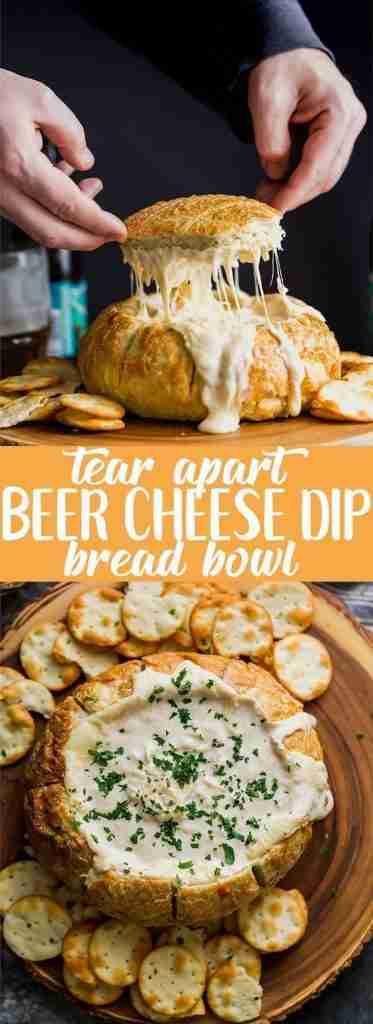 Creamy Beer Cheese Dip Tear Apart Bread Bowl – Bread Dip
