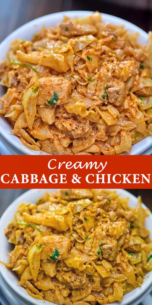 Creamy Cabbage and Chicken