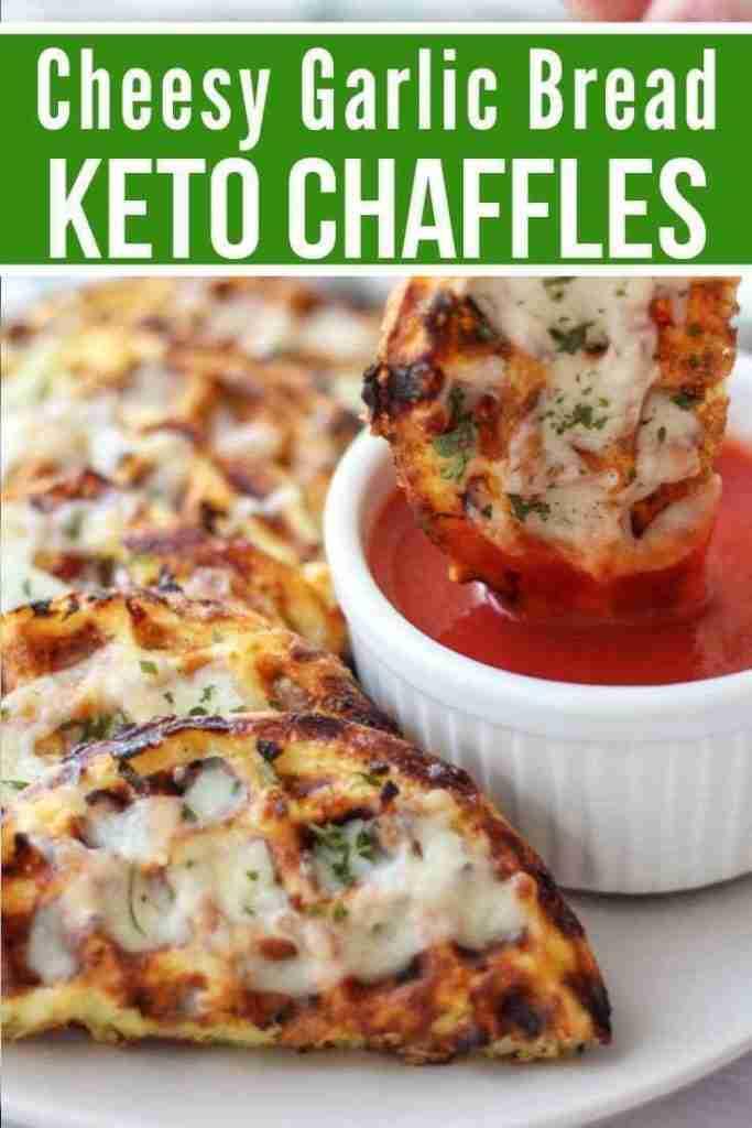 Easy Keto Cheesy Garlic Chaffle Bread